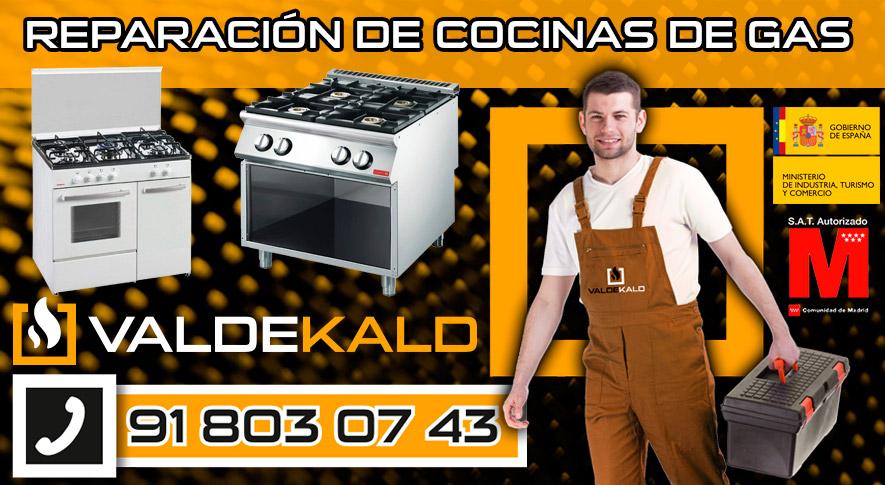 reparación de cocinas de gas en Valdemoro