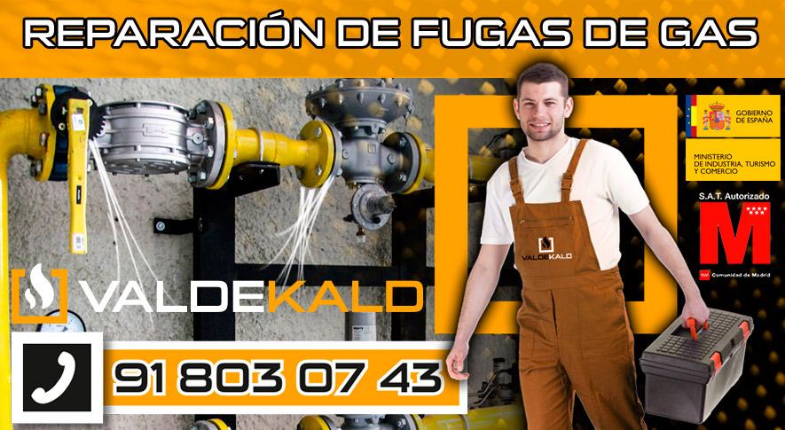 reparación de fugas de gas en Valdemoro