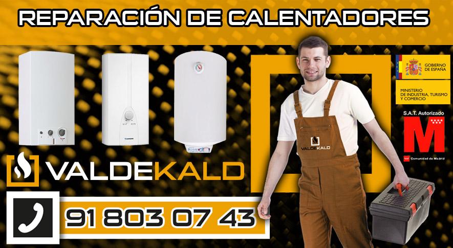 Reparación de calentadores en Valdemoro
