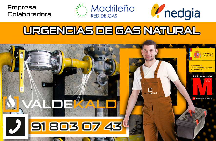 Urgencias de gas natural en Valdemoro