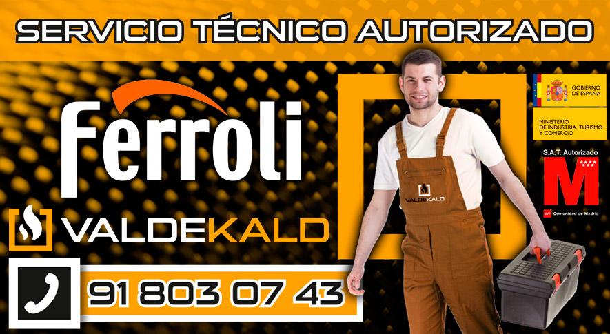 Servicio Técnico Calderas Ferroli en Torrejón de Velasco